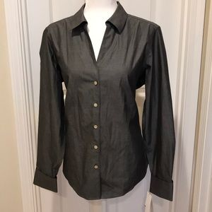 Foxcroft Size 14 Long Sleeve Fitted Lauren Shirt